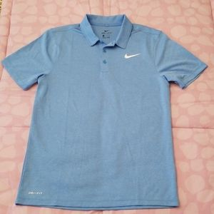 NWOT Nike Dri-Fit Light Blue Polo Collared Shirt